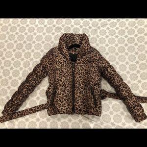 Leopard print H&M down jacket